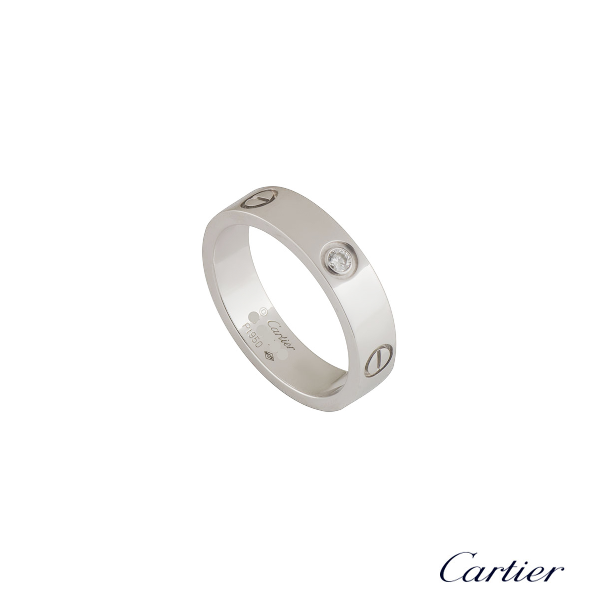 Cartier Platinum Diamond Love Ring B4046765